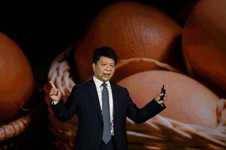華為輪值總裁郭平 (圖:AFP)