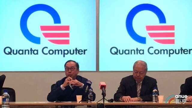 廣達董事長林百里(左)、副董事長暨總經理梁次震(右)。(鉅亨網資料照)