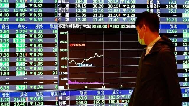 疫情干擾股市震盪 券商前4月僅賺20.8億元、年減逾8成。(圖:AFP)