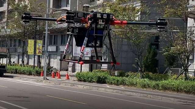 遠傳無人機優化高樓層網路。(圖:遠傳提供)