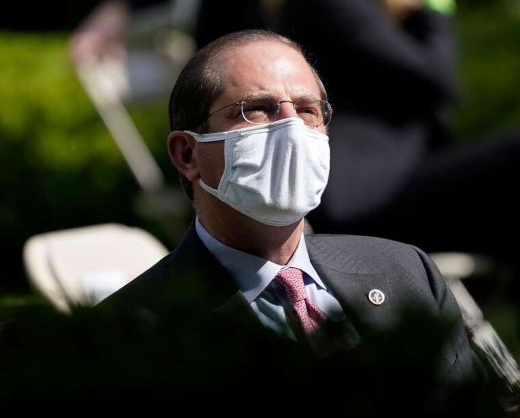 美國衛生部長艾薩 (Alex Azar) 批評世衛中國害死人。(圖片:AFP)