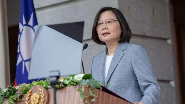 蔡總統:建立台灣品牌製造業 開拓潛力市場鼓勵台商布局。(圖:總統府提供)