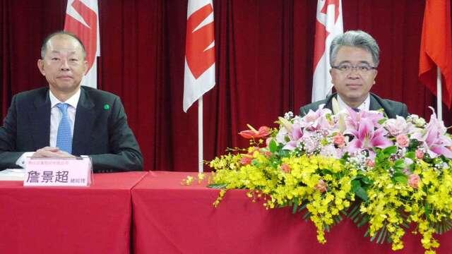 泰山詹逸宏董事長(右)、詹景超總經理(左)。(圖:泰山提供)
