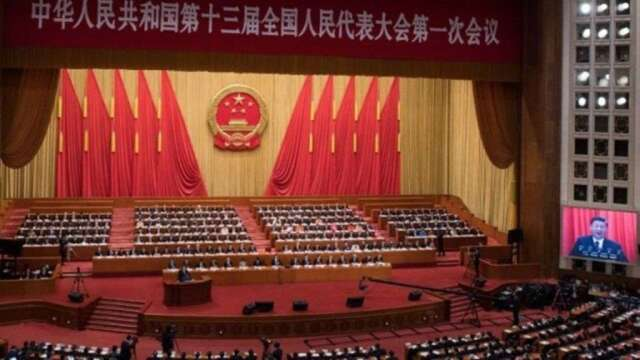 中國兩會今天登場。(圖:AFP)