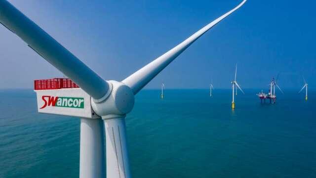 上緯投控海洋風電第二階段20支風機於去年10月安裝完成。(圖:取材自上緯官網)