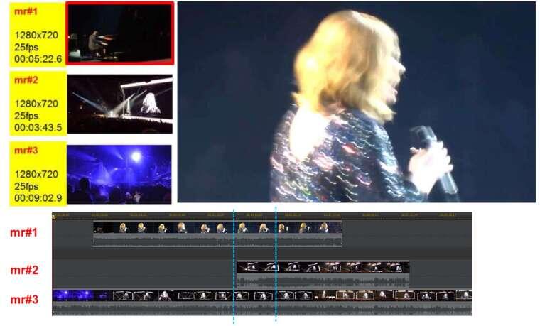 不同角度、不同距離、不同段落的演唱會影片,混搭拼貼成完整的演出視訊 資料來源|廖弘源 圖說設計|黃楷元
