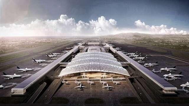 桃機第三航廈四度招標 主體工程預算增百億 多家廠商洽詢。(圖:擷自桃機公司官網)