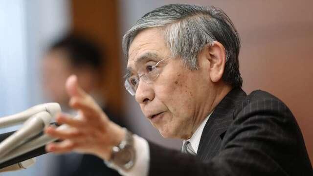 黑田東彥:會與政府合作、積極在企業金融給予支援  (圖片:AFP)
