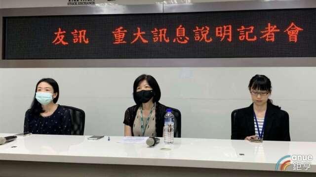 友訊人資處資深處長王蕙雯(中)5月25日接任發言人。(鉅亨網資料照)