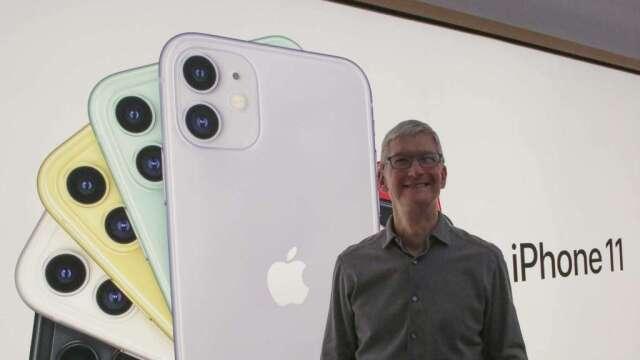 蘋果iPhone 12系列OLED面板 逾7成仍將由三星供應(圖:AFP)