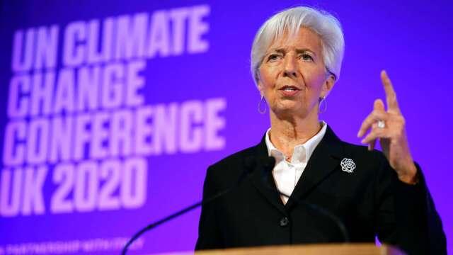 拉加德:歐元區經濟走向最悲觀預期 估今年衰退8-12%    (圖片:AFP)