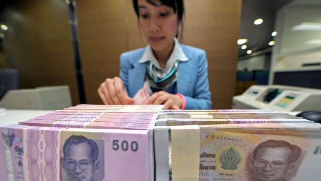 泰國央行:近期泰銖升值不符基本面 將採行動降溫 (圖:AFP)