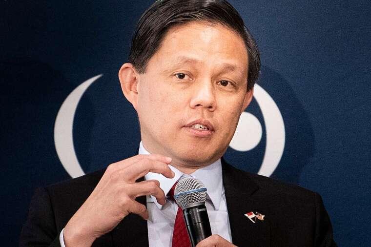 新加坡貿易和工業部長陳振聲 (圖:AFP)