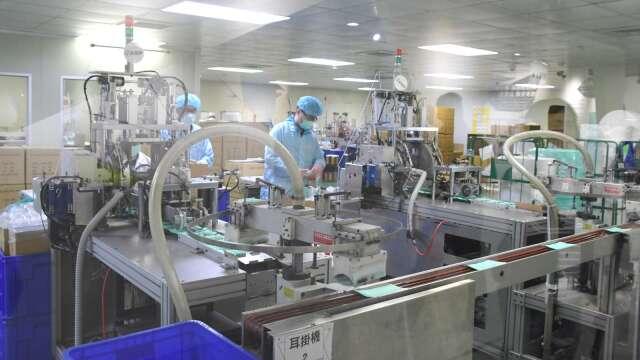 華新醫材口罩工廠。(圖:彰縣府提供)