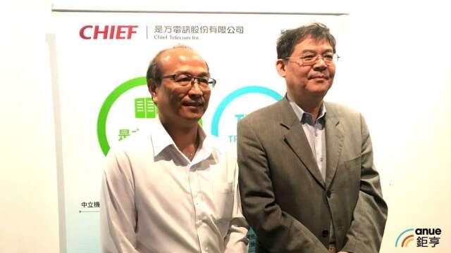 圖左為是方總經理劉耀元、右為董事長吳彥宏。(鉅亨網資料照)