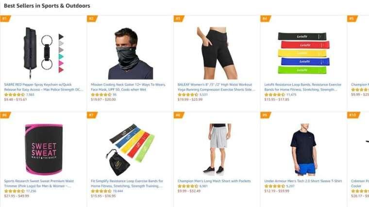 亞馬遜網站的熱賣商品。(來源: CNBC)