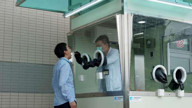 工研院正壓式檢疫亭站。(圖工研院提供)
