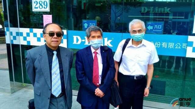 圖左至右為友訊獨董馮忠鵬、鍾祥鳳,以及友訊董事長李中旺。(鉅亨網資料照)