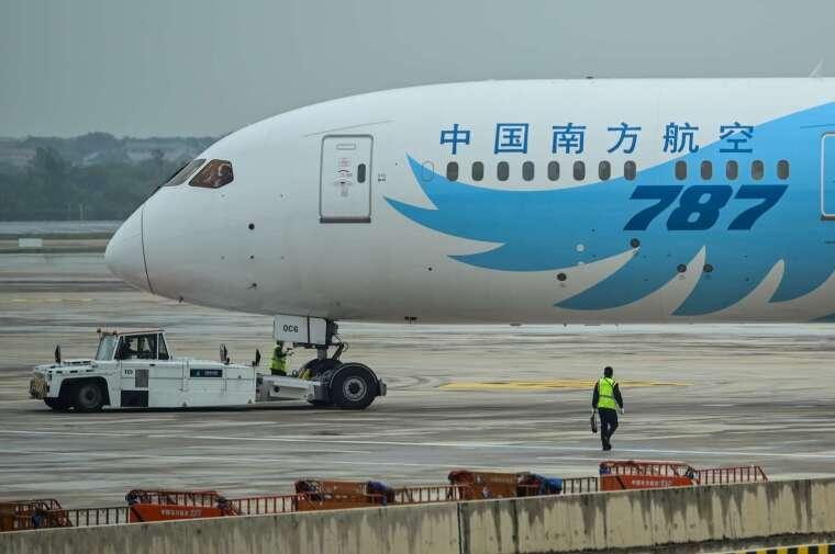 南方航空為禁飛美國的中國航空公司之一。(圖片:AFP)