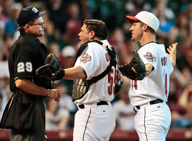棒球選手常為了好球帶問題與裁判爭執 (圖片:AFP)