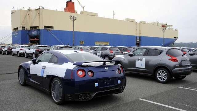 日本5月中上旬出口年減26% 汽車出口持續不振 (圖片:AFP)
