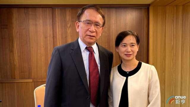 圖左為晟德董事長林榮錦,右為永昕總經理陳佩君。(鉅亨網資料照)