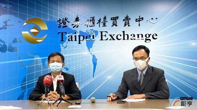 廣明總經理何世池(左)、財務長暨發言人李志仁(右)。(鉅亨網記者劉韋廷攝)