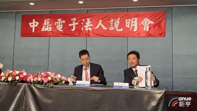 中磊總經理王煒(圖左)及發言人陳正弘。(鉅亨網資料照)