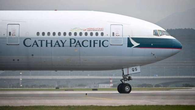將獲資金進駐 國泰航空股價一度升逾18% 隨後漲幅驟減至2%(圖:AFP)