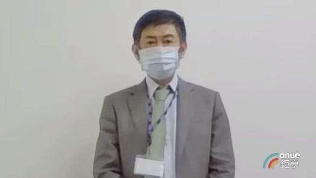 大立光執行長林恩平今以戴口罩視訊接受採訪。(鉅亨網記者張欽發攝)