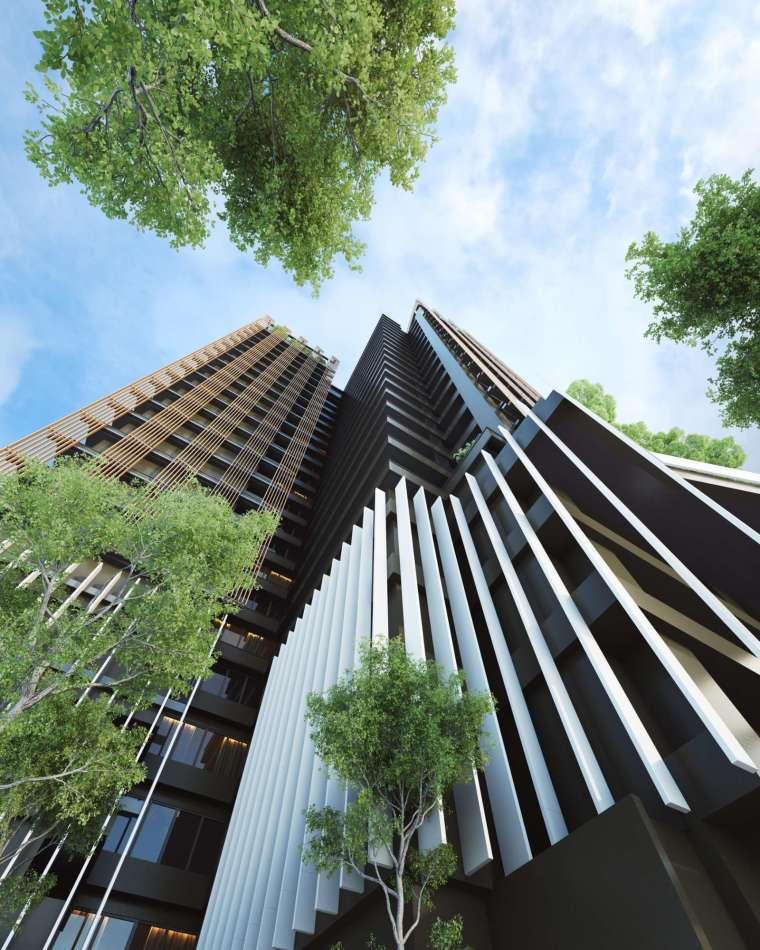 ▲信松廣場建築 3D 模擬透視圖。