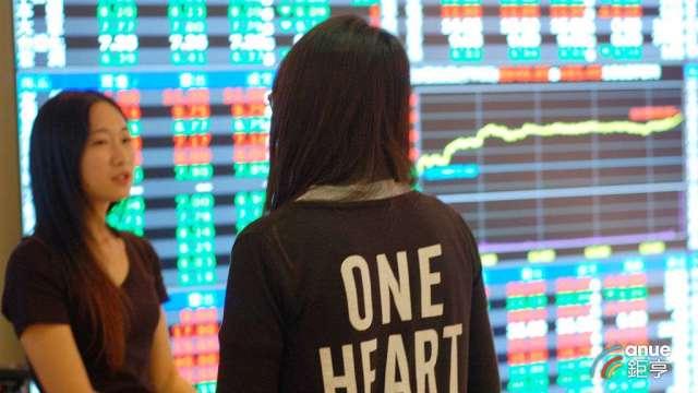 全球資金滿溢衝腦,台股日K連九紅助大盤挑戰新高。(鉅亨網記者張欽發攝)