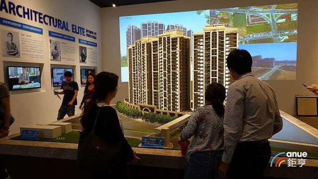住宅單價上揚與坪數放大,北市新建案平均每戶總價增加逾500萬元。(鉅亨網記者張欽發攝)