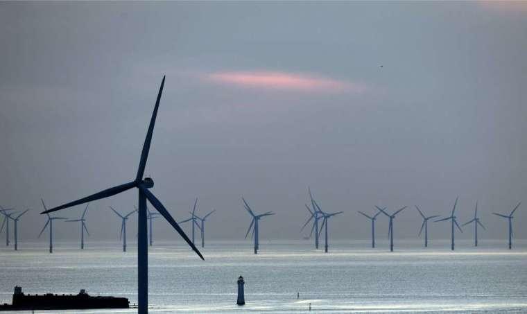 英國海上風能產業 (圖: AFP)