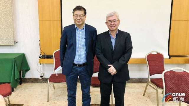 左為祥碩董事長沈振來、右為總經理林哲偉。(鉅亨網記者魏志豪攝)