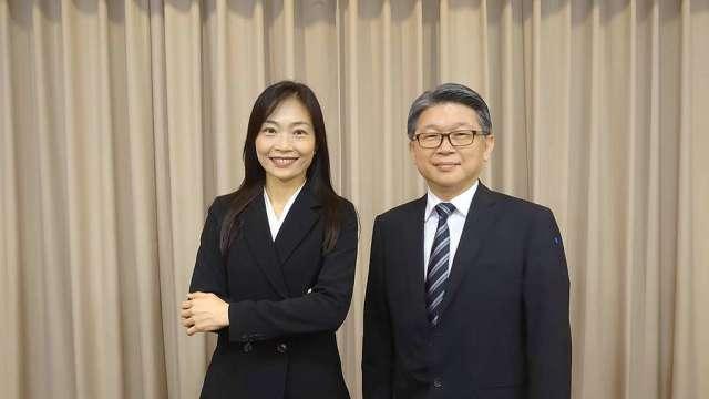 明泰董事長黃文芳(圖左)及總經理林裕欽。(圖:明泰提供)