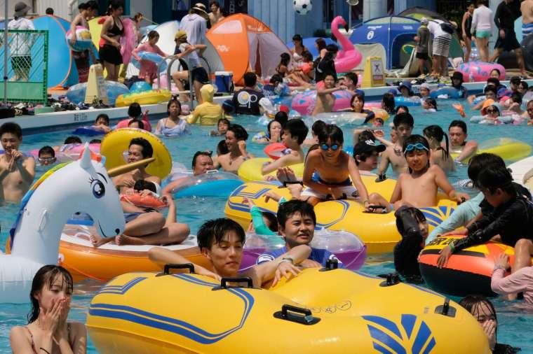東京豐島園的水上樂園 (圖片:AFP)