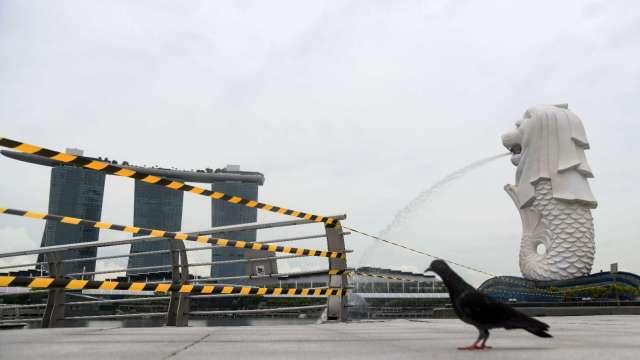 受疫情衝擊 新加坡5月份貨櫃船靠港數創27年來新低  (圖片:AFP)