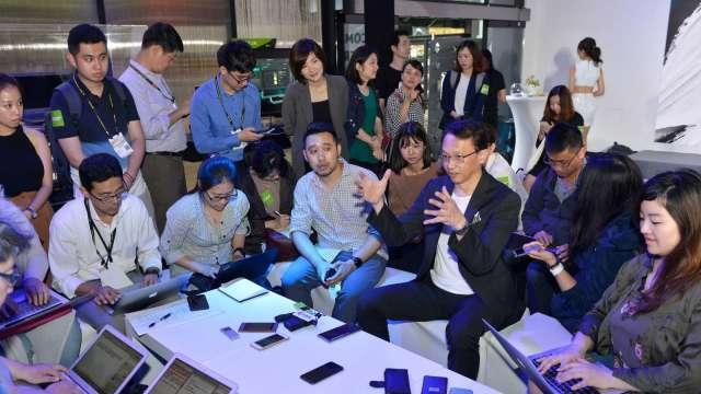 圖中為宏碁董事長陳俊聖。(圖:AFP)