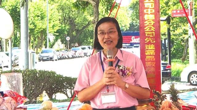環球晶董事長徐秀蘭今(16)日出席中德分公司12吋廠擴建動土典禮。(圖:環球晶提供)