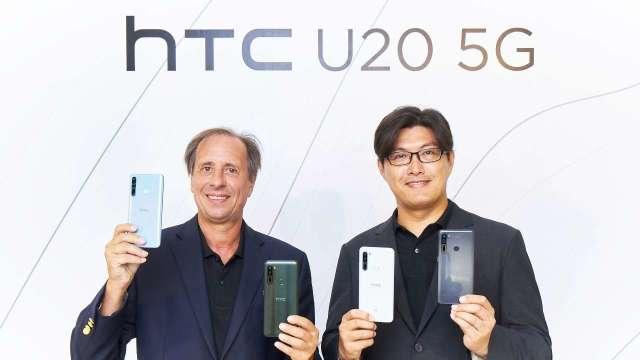 圖左為宏達電執行長Yves Maitre、右為台灣區總經理陳柏諭。(圖宏達電提供)