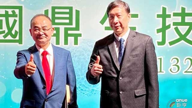 圖左為國鼎董事長劉勝勇、右為總經理蘇經天。(鉅亨網記者沈筱禎攝)