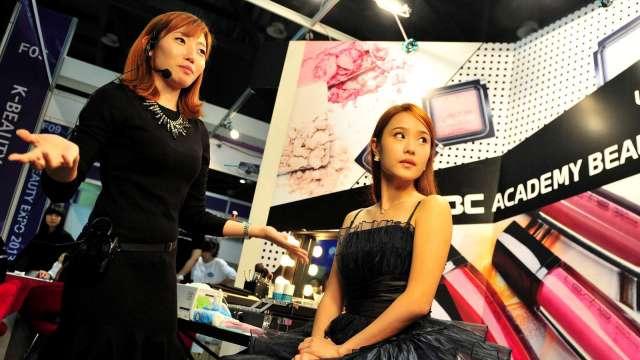 南韓化妝品貿易收支創新高 台灣成第7大市場 (圖片:AFP)
