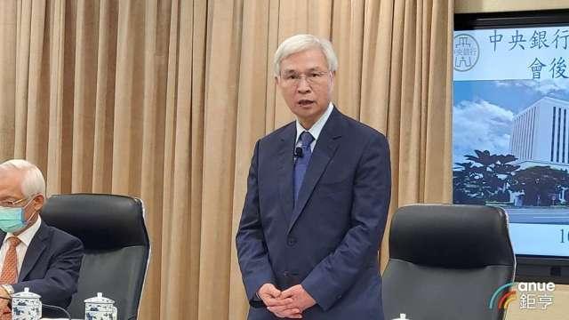 台灣央行總裁楊金龍。(鉅亨網記者王莞甯攝)