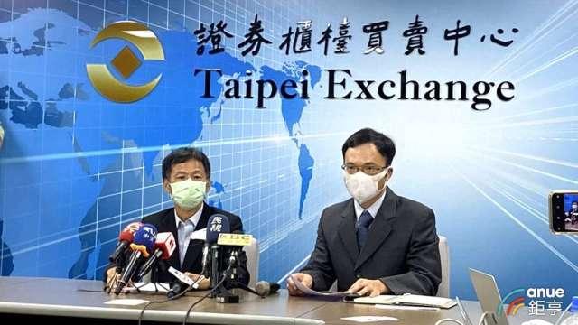 廣明總經理何世池(左)、財務長李志仁(右)。(鉅亨網記者劉韋廷攝)