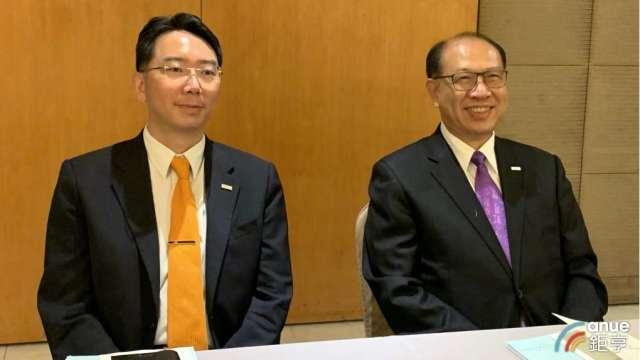 右起為上銀集團總裁卓文財、上銀科技董事長卓文恒。(鉅亨網記者林薏茹攝)