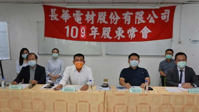 左二為長華集團董事長黃嘉能,右二為副董事長洪全成。(圖:業者提供)