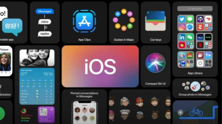 蘋果對 iOS 14 系統重新設計了 iPhone 主畫面視覺。(圖片:蘋果)