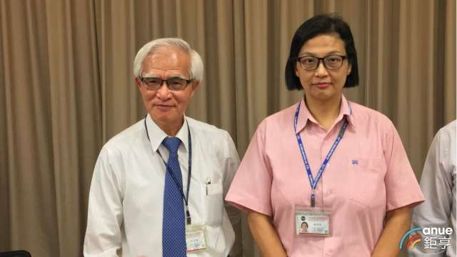 左起為中美晶董事長盧明光、總經理徐秀蘭。(鉅亨網資料照)
