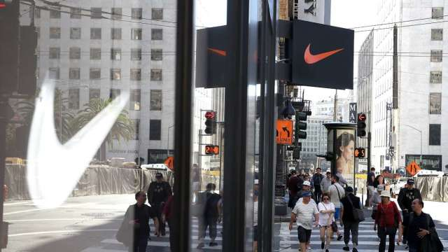 〈財報〉疫情衝擊 Nike由盈轉虧、營收暴減近40% 盤後股價挫跌3% (圖:AFP)